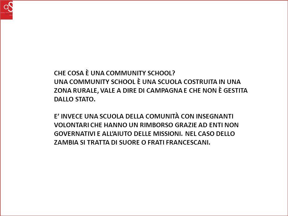 CHE COSA È UNA COMMUNITY SCHOOL.