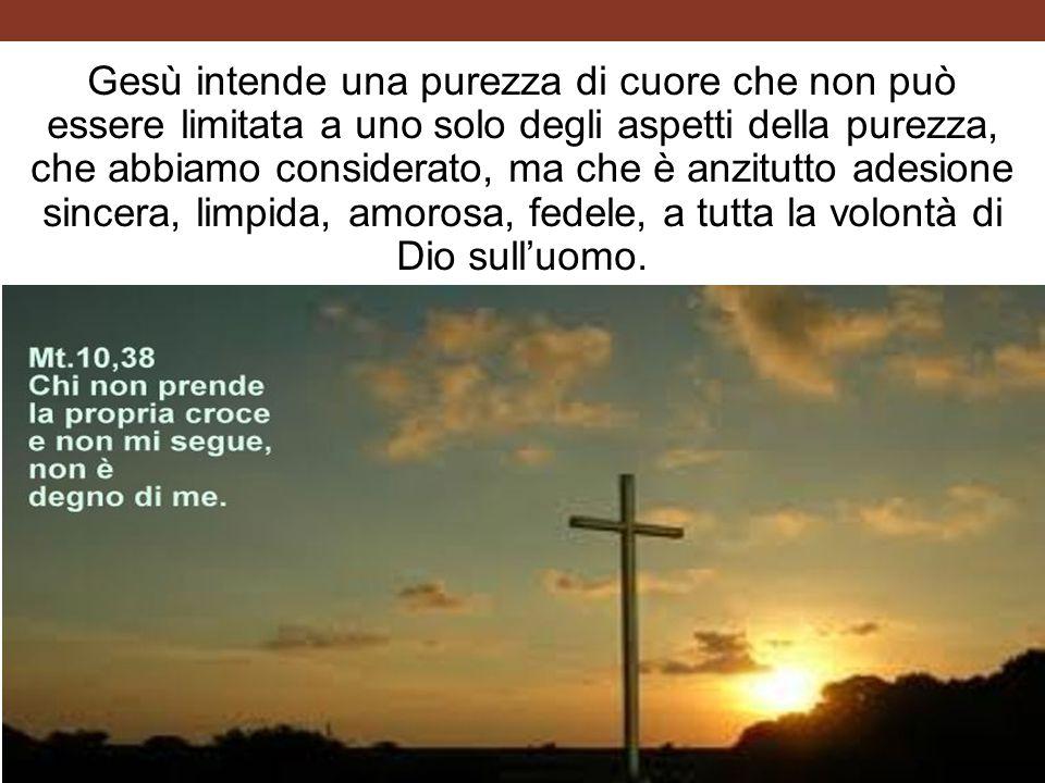 Gesù intende una purezza di cuore che non può essere limitata a uno solo degli aspetti della purezza, che abbiamo considerato, ma che è anzitutto ade