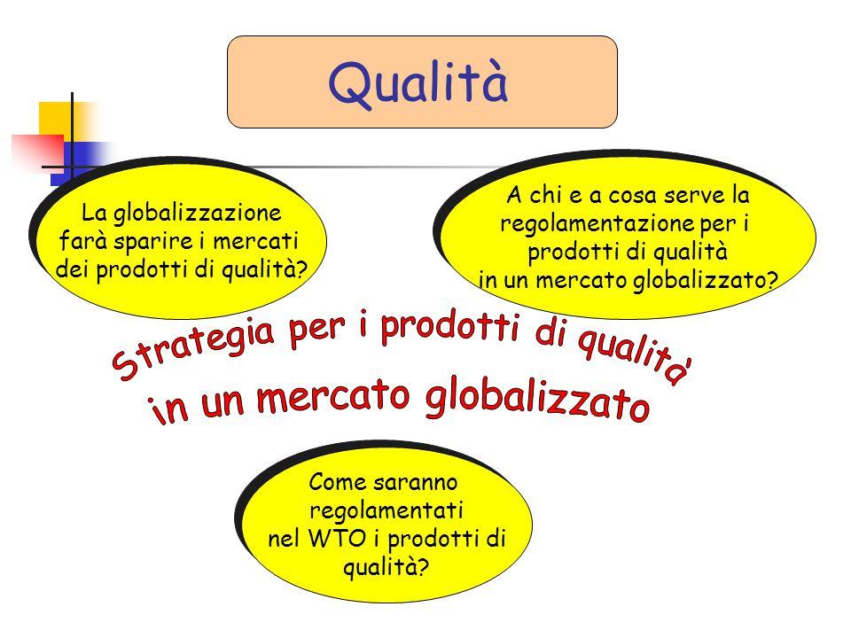 La globalizzazione farà sparire i mercati dei prodotti di qualità? La globalizzazione farà sparire i mercati dei prodotti di qualità? A chi e a cosa s
