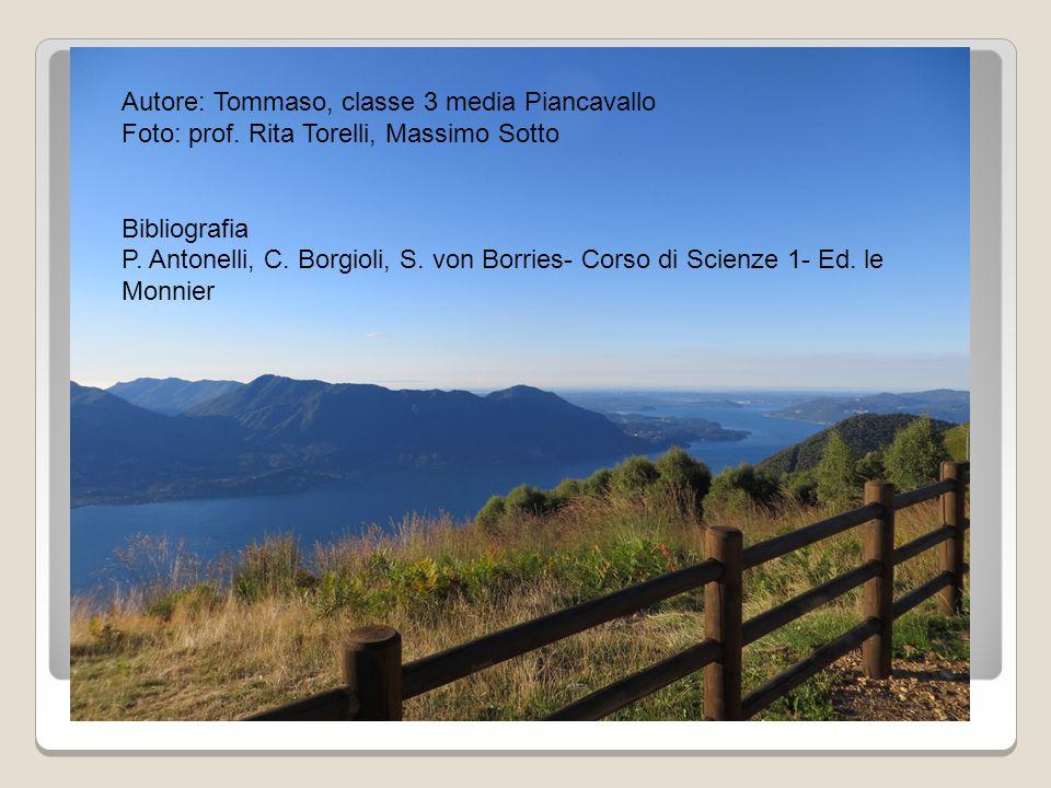 Autore: Tommaso, classe 3 media Piancavallo Foto: prof. Rita Torelli, Massimo Sotto Bibliografia P. Antonelli, C. Borgioli, S. von Borries- Corso di S