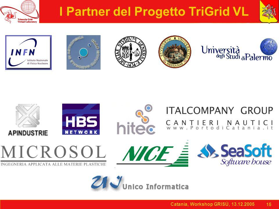 Catania, Workshop GRISÙ, 13.12.2005 15 Catania, Workshop GRISÙ, 13.12.2005 15 I Partner del Progetto TriGrid VL