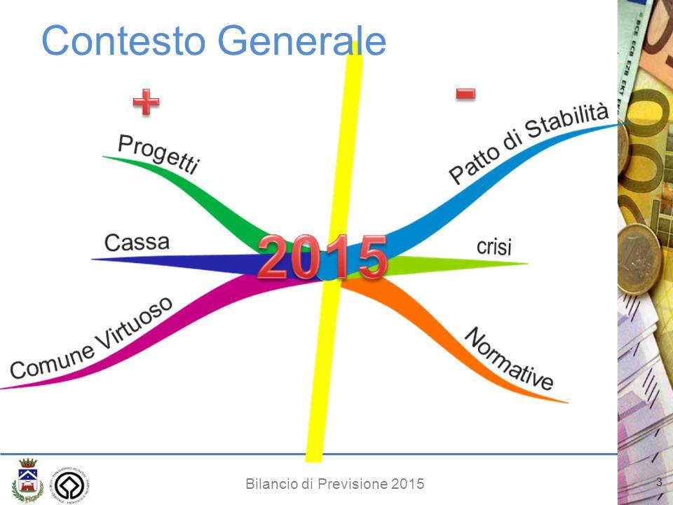 Bilancio di Previsione 2015 3 Contesto Generale