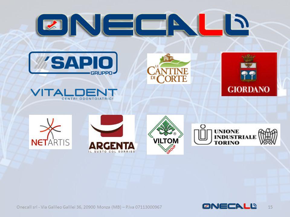 Onecall srl - Via Galileo Galilei 36, 20900 Monza (MB) – P.iva 07113000967 15