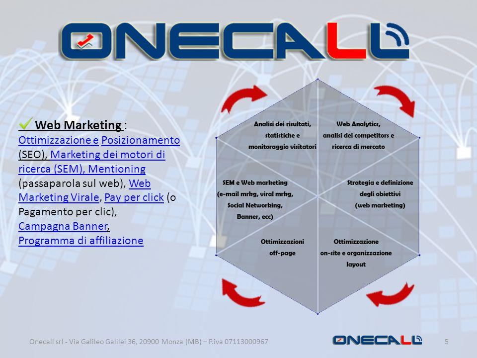 5 Web Marketing : Ottimizzazione eOttimizzazione e Posizionamento (SEO), Marketing dei motori di ricerca (SEM), Mentioning (passaparola sul web), Web