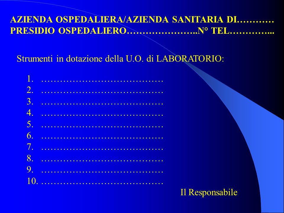 U.O. Laboratorio Analisi Urgenze 1 a linea produzione 3 a linea produzione 2 a linea produzione Direzione Prenotazione/ Accettazione Paz. Est. Preliev