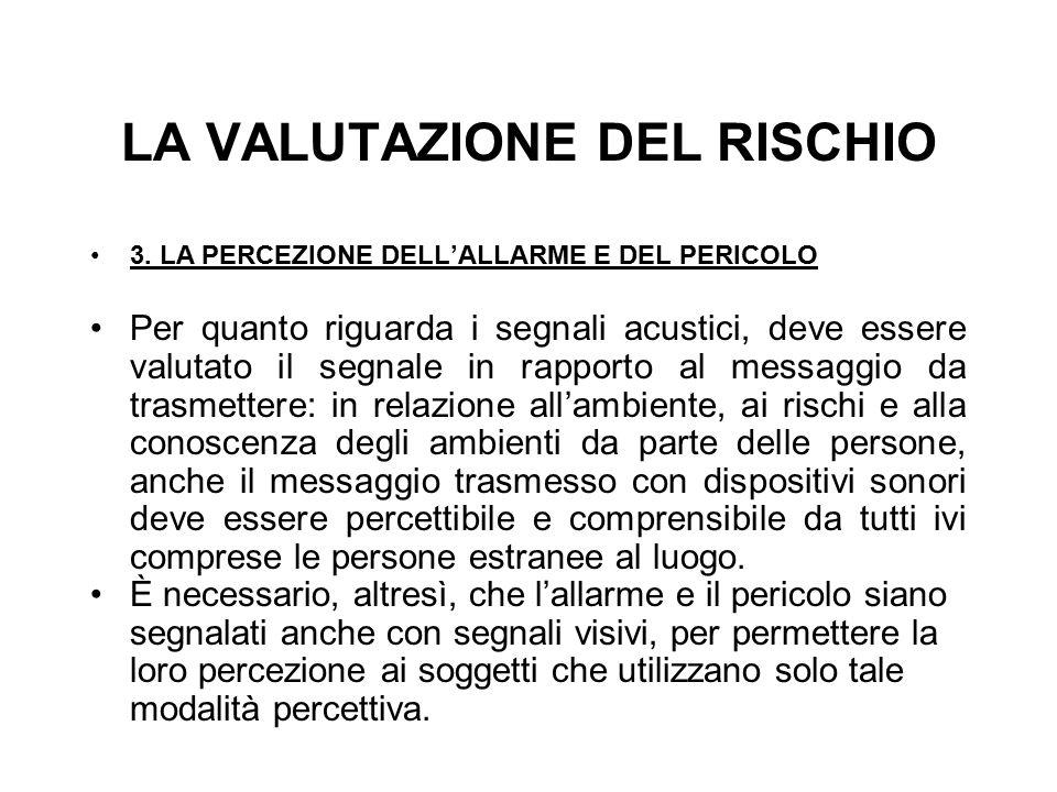 LA VALUTAZIONE DEL RISCHIO 3.