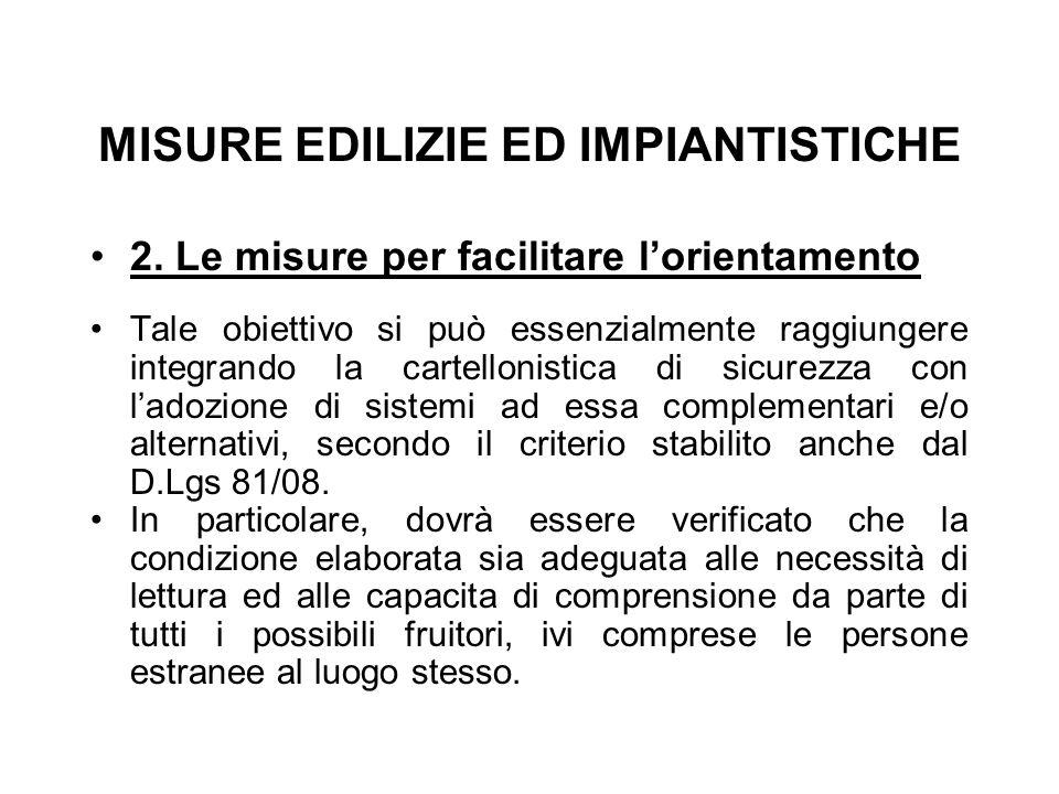 MISURE EDILIZIE ED IMPIANTISTICHE 2.