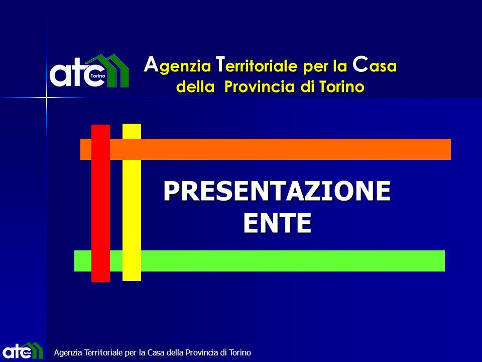 Agenzia Territoriale per la Casa della Provincia di Torino PRESENTAZIONEENTE Agenzia Territoriale per la Casa della Provincia di Torino