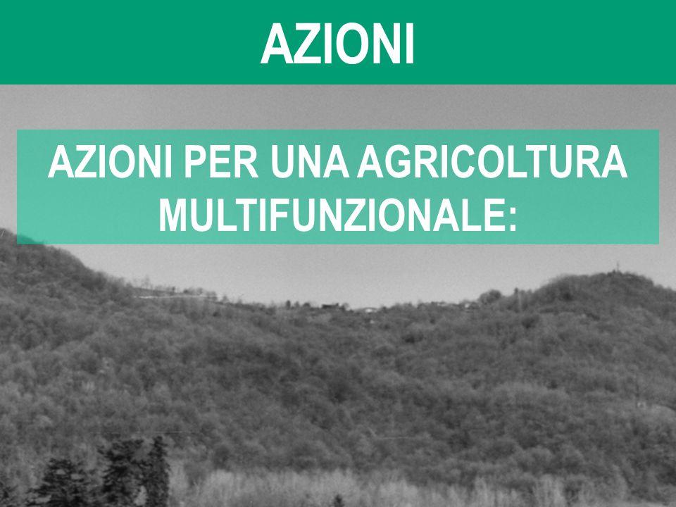 AZIONI AZIONI PER UNA AGRICOLTURA MULTIFUNZIONALE: