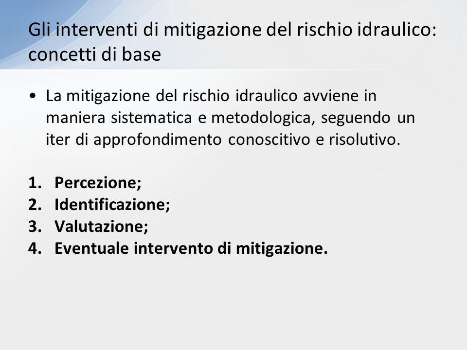 La mitigazione del rischio idraulico avviene in maniera sistematica e metodologica, seguendo un iter di approfondimento conoscitivo e risolutivo. 1.Pe