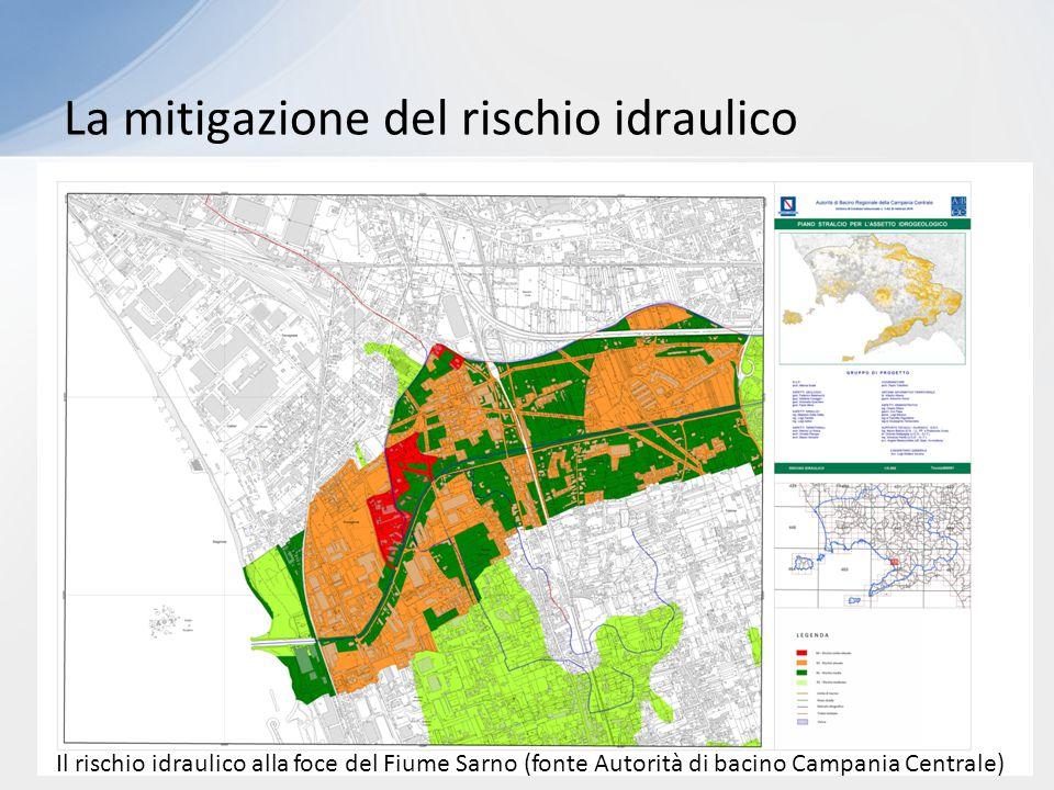 Il rischio idraulico alla foce del Fiume Sarno (fonte Autorità di bacino Campania Centrale)