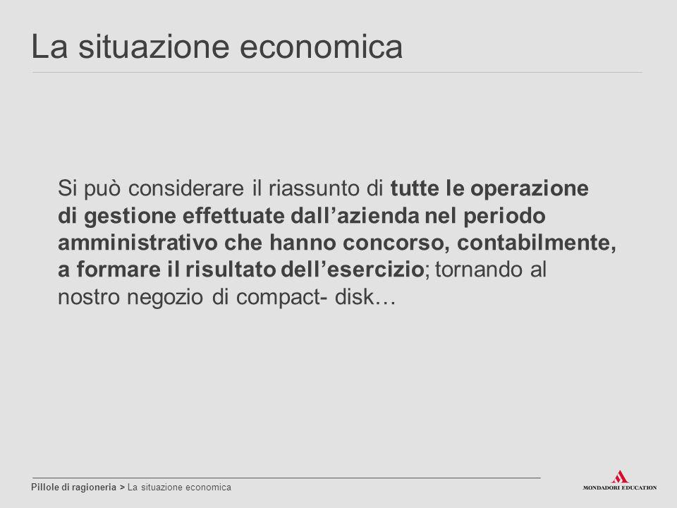 Si può considerare il riassunto di tutte le operazione di gestione effettuate dall'azienda nel periodo amministrativo che hanno concorso, contabilment