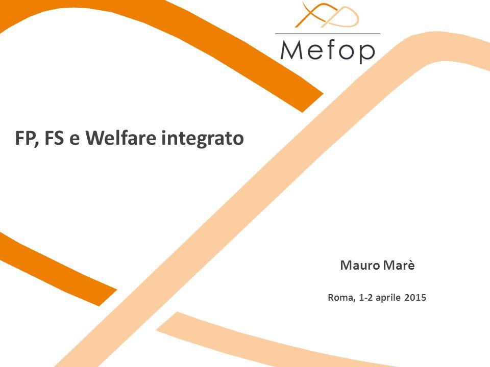  L importanza del Welfare integrativo per lo sviluppo delle politiche di welfare in generale  l impegno di Mefop sul tema; abbiamo promosso varie iniziative da tempo e lo faremo anche in futuro….