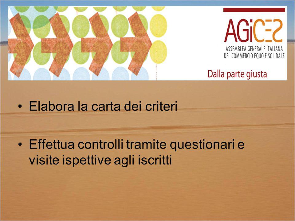 Elabora la carta dei criteri Effettua controlli tramite questionari e visite ispettive agli iscritti