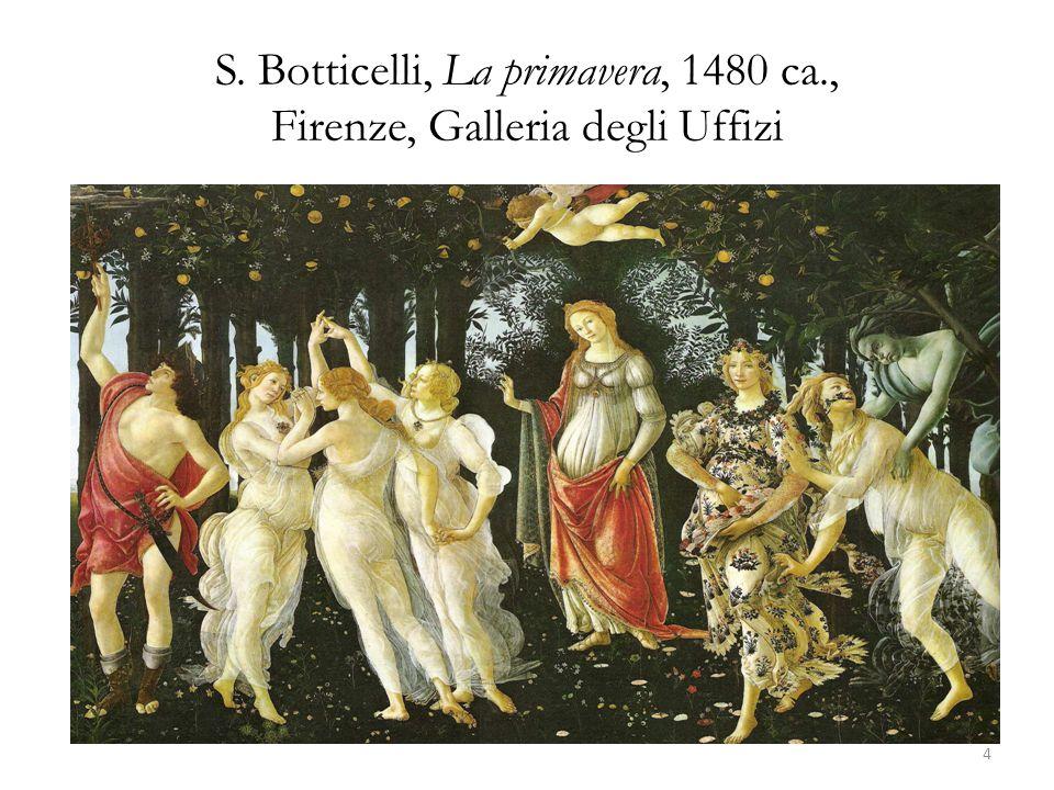 S. Botticelli, La primavera, 1480 ca., Firenze, Galleria degli Uffizi 4