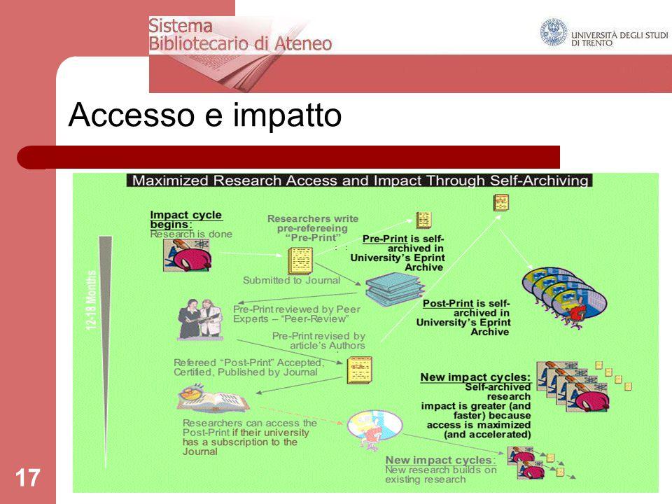 Accesso e impatto 17