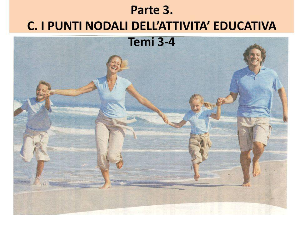 Parte 3. C. I PUNTI NODALI DELL'ATTIVITA' EDUCATIVA Temi 3-4
