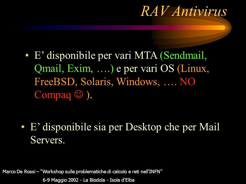 """RAV Antivirus E' stato installato con successo ed e' un """"pacchetto unico"""" che ha tutto il necessario nel proprio """"kit"""" di installazione. Non e' un """"wr"""