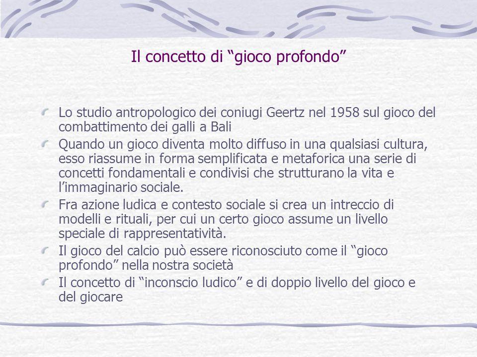 """Il concetto di """"gioco profondo"""" Lo studio antropologico dei coniugi Geertz nel 1958 sul gioco del combattimento dei galli a Bali Quando un gioco diven"""