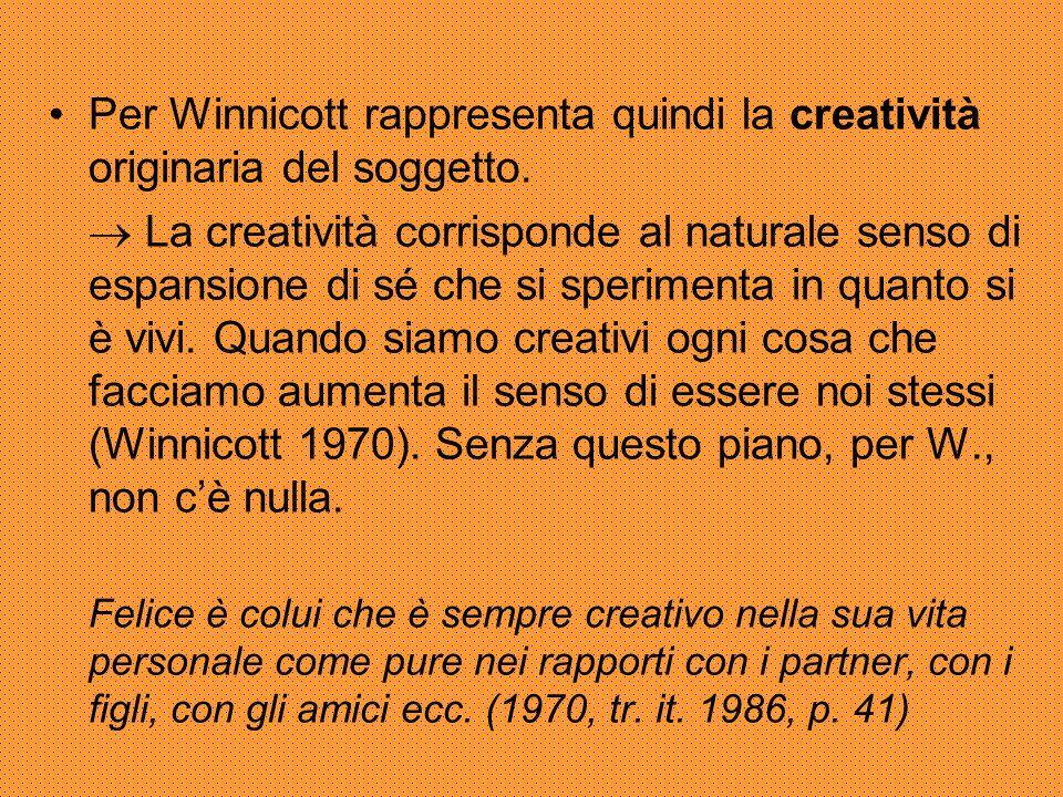 Essere creativi significa essere soggetti a pieno titolo.