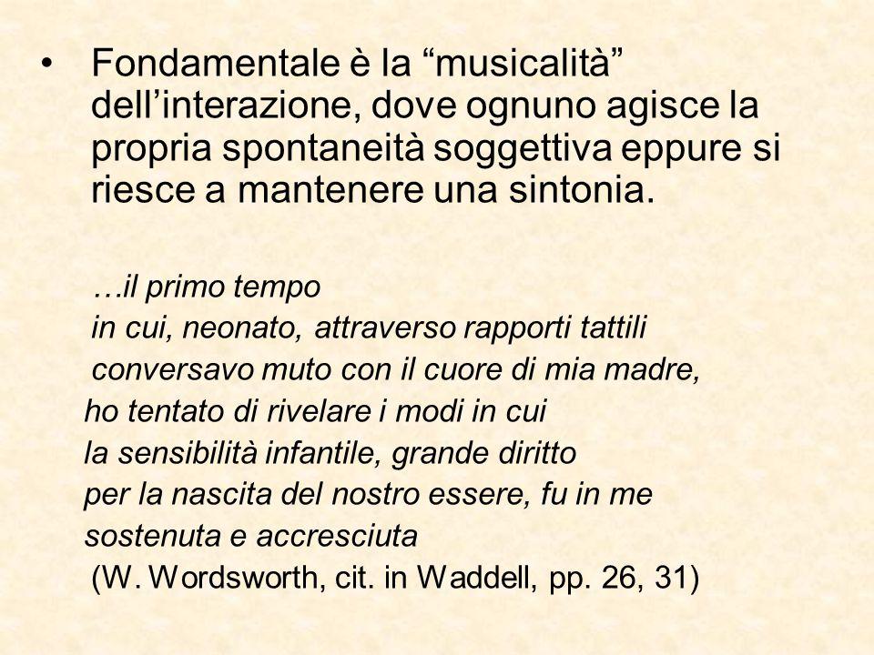 """Fondamentale è la """"musicalità"""" dell'interazione, dove ognuno agisce la propria spontaneità soggettiva eppure si riesce a mantenere una sintonia. …il p"""