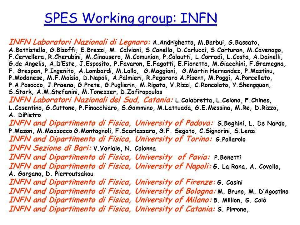 INFN Laboratori Nazionali di Legnaro: A.Andrighetto, M.Barbui, G.Bassato, A.Battistella, G.Bisoffi, E.Brezzi, M. Calviani, S.Canella, D.Carlucci, S.Ca