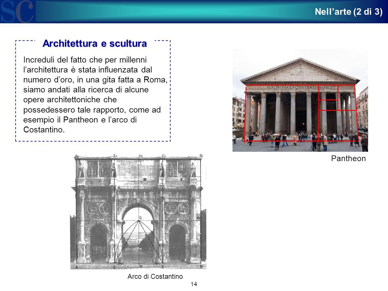 14 Increduli del fatto che per millenni l'architettura è stata influenzata dal numero d'oro, in una gita fatta a Roma, siamo andati alla ricerca di al