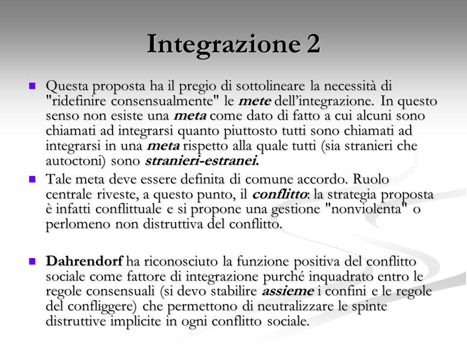 Integrazione 2 e Questa proposta ha il pregio di sottolineare la necessità di