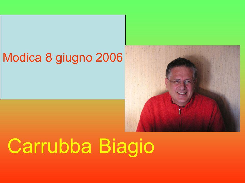 Carrubba Biagio Modica 8 giugno 2006