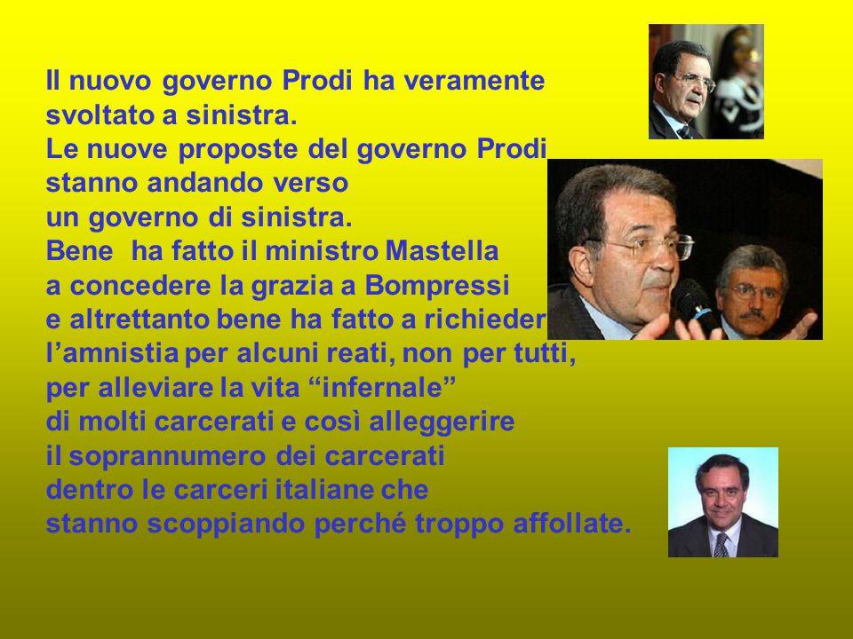 Il nuovo governo Prodi ha veramente svoltato a sinistra.
