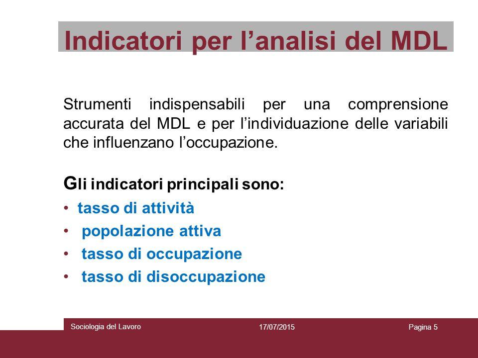 Indicatori per l'analisi del MDL Strumenti indispensabili per una comprensione accurata del MDL e per l'individuazione delle variabili che influenzano