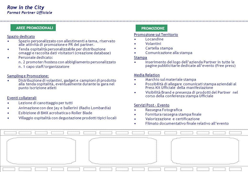 Spazio dedicato Spazio personalizzato con allestimenti a tema, riservato alle attività di promozione e PR del partner.