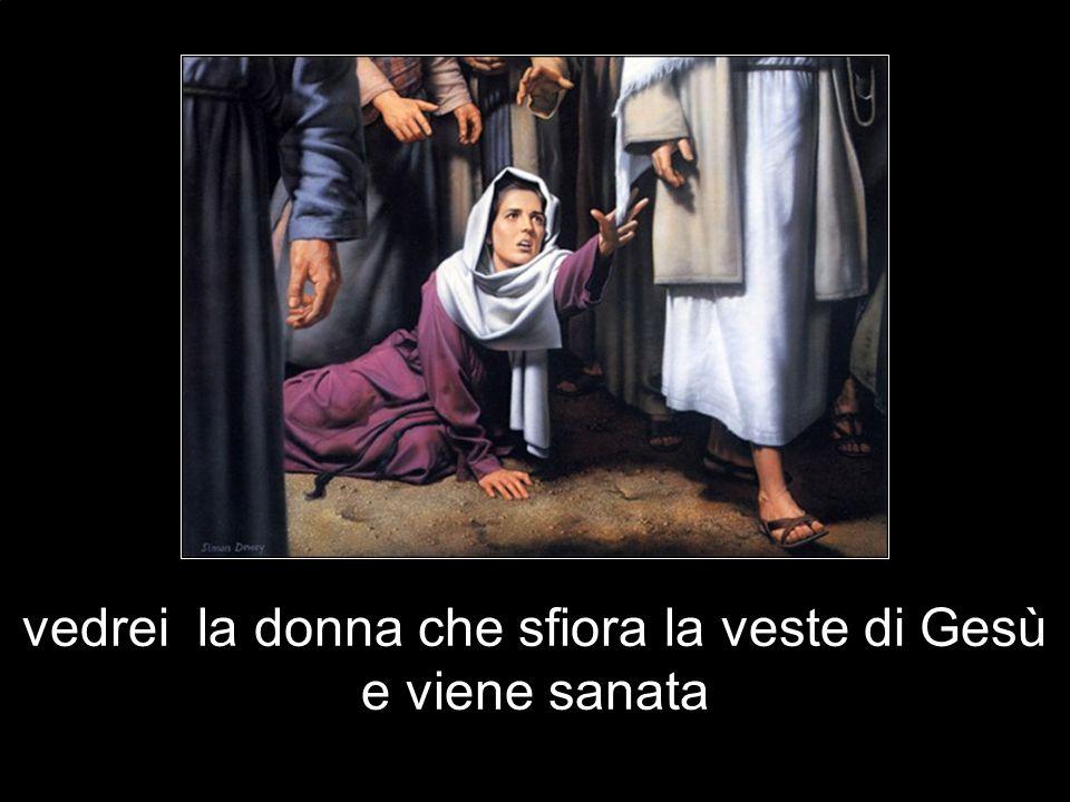 vedrei la donna che sfiora la veste di Gesù e viene sanata