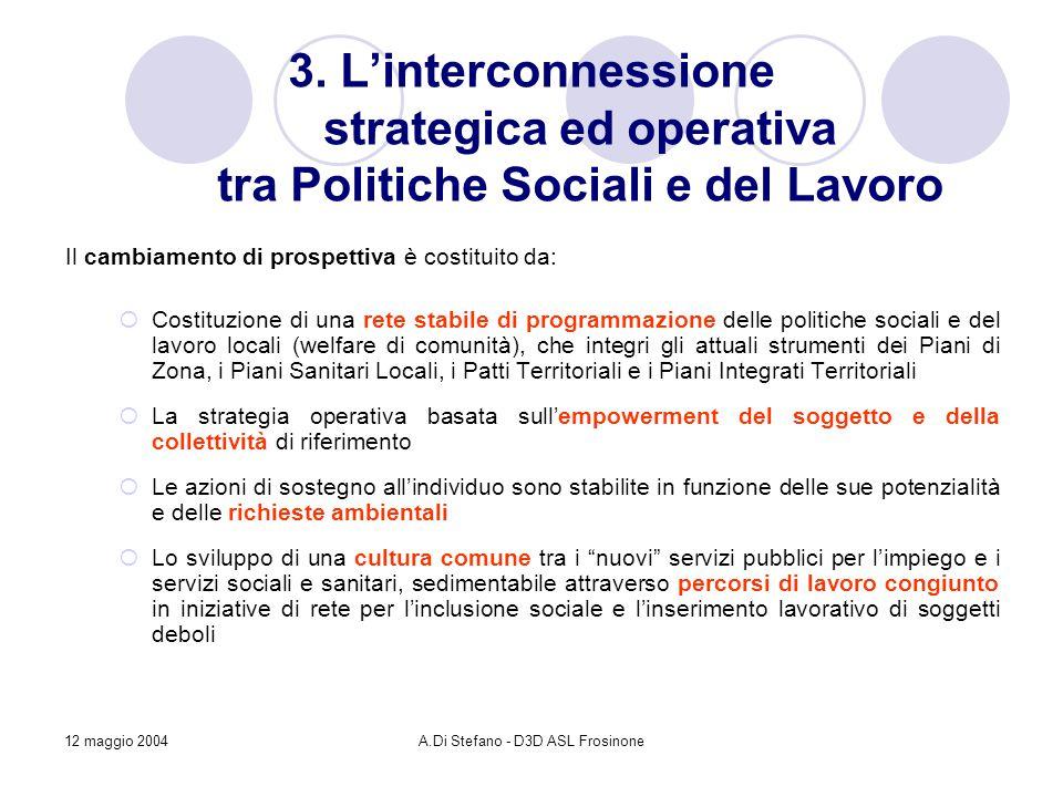12 maggio 2004A.Di Stefano - D3D ASL Frosinone 3.