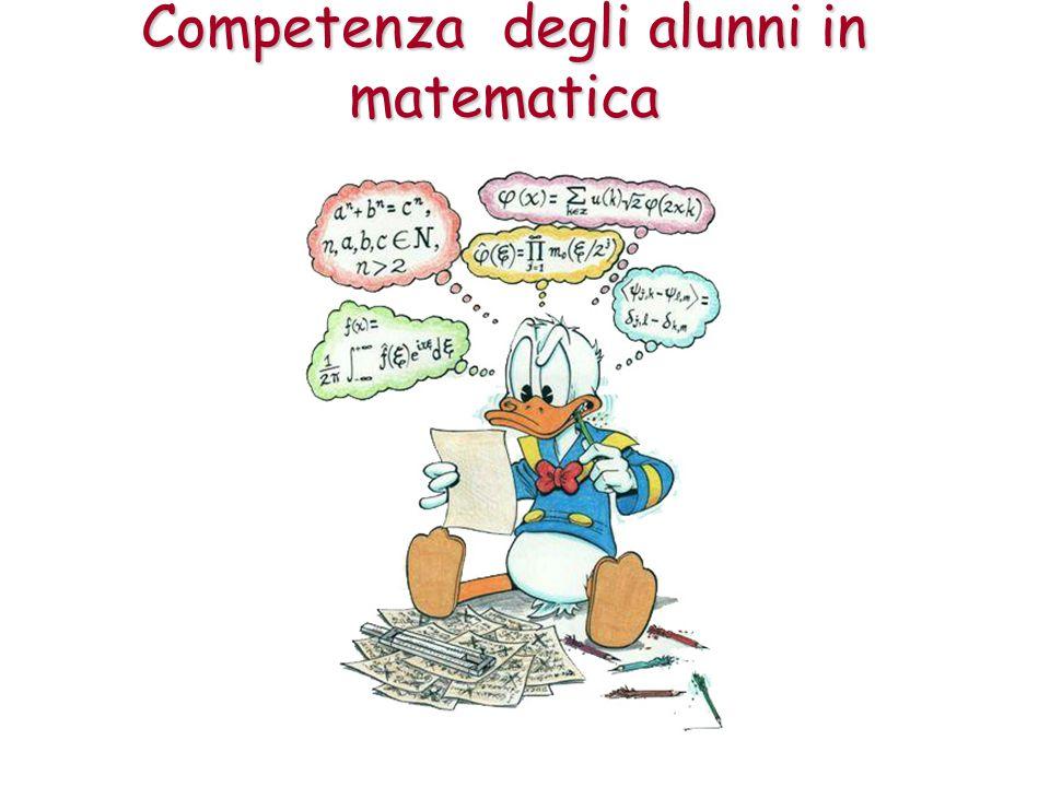 Competenza degli alunni in matematica
