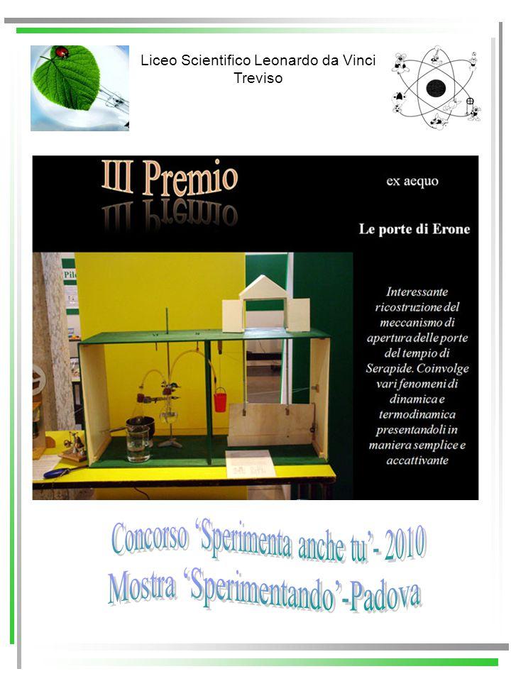 Liceo Scientifico Leonardo da Vinci Treviso Commissione X Mostra Esperimenti per pensare Comitato di Rete LES