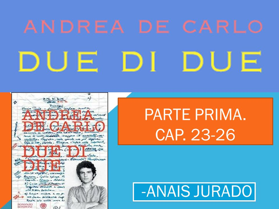 PARTE PRIMA. CAP. 23-26 -ANAIS JURADO