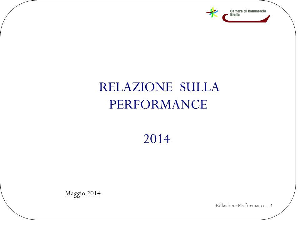RELAZIONE SULLA PERFORMANCE 2014 Maggio 2014 Relazione Performance - 1