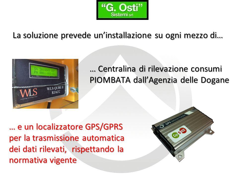 … e un localizzatore GPS/GPRS per la trasmissione automatica dei dati rilevati, rispettando la normativa vigente … Centralina di rilevazione consumi P