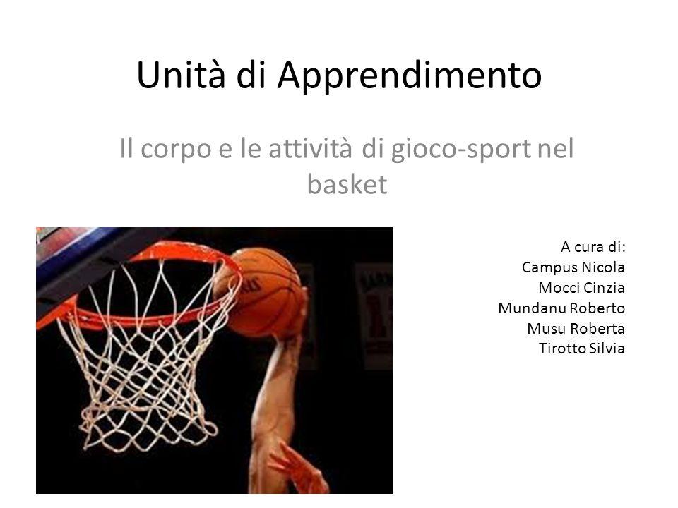 Unità di Apprendimento Il corpo e le attività di gioco-sport nel basket A cura di: Campus Nicola Mocci Cinzia Mundanu Roberto Musu Roberta Tirotto Sil