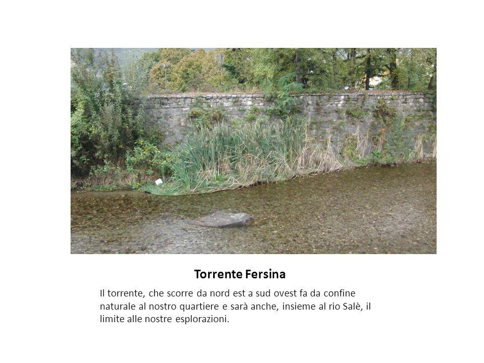 Torrente Fersina Il torrente, che scorre da nord est a sud ovest fa da confine naturale al nostro quartiere e sarà anche, insieme al rio Salè, il limi