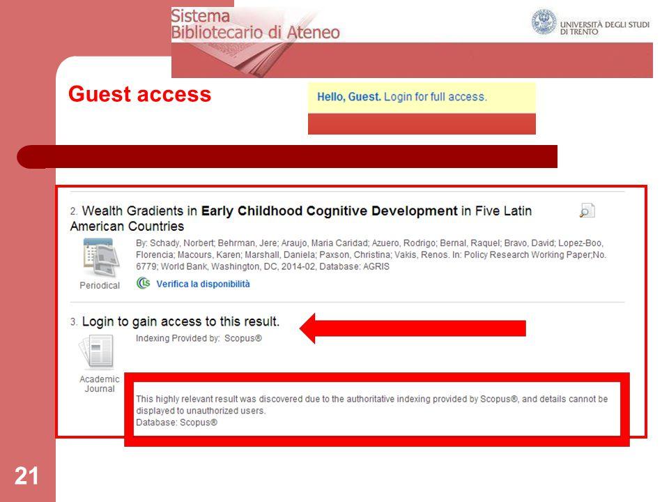 Guest access 21