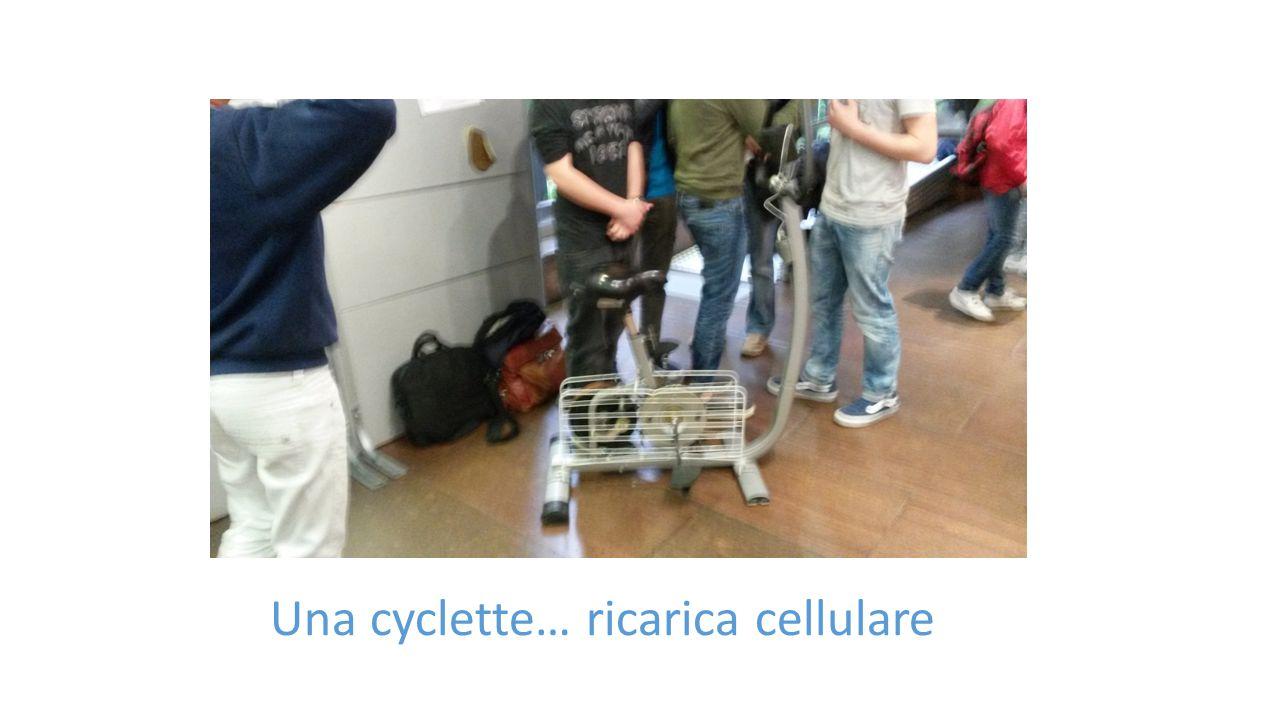 Una cyclette… ricarica cellulare