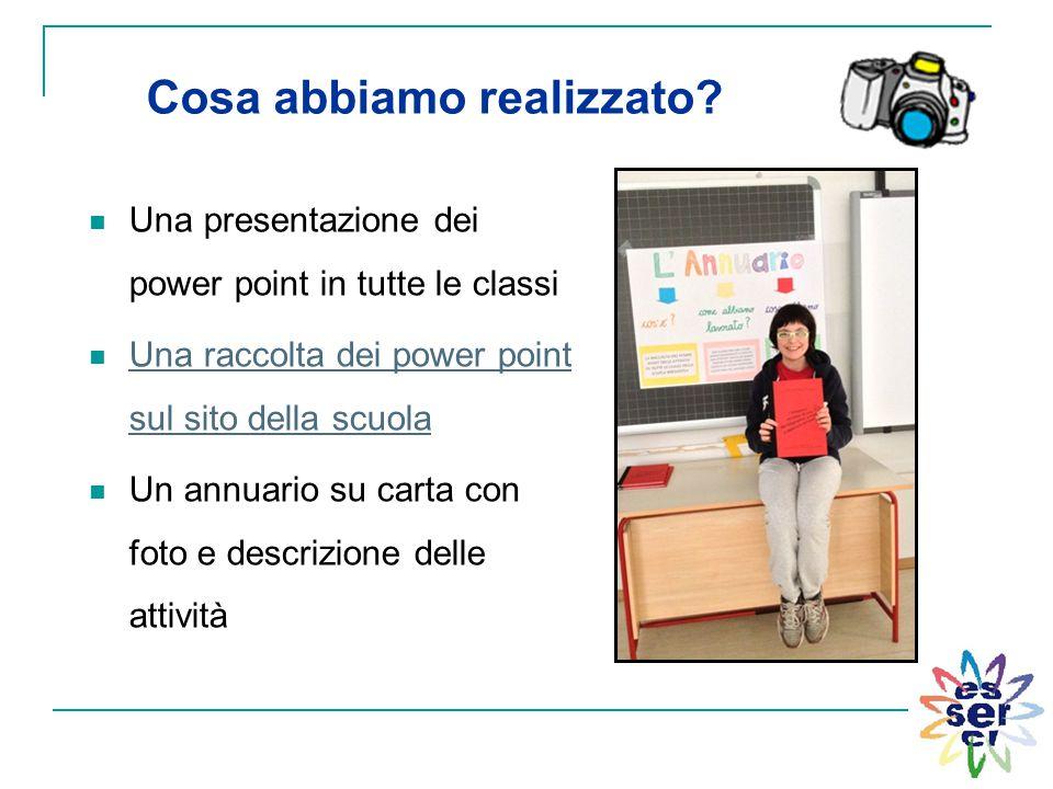 Una presentazione dei power point in tutte le classi Una raccolta dei power point sul sito della scuola Una raccolta dei power point sul sito della sc