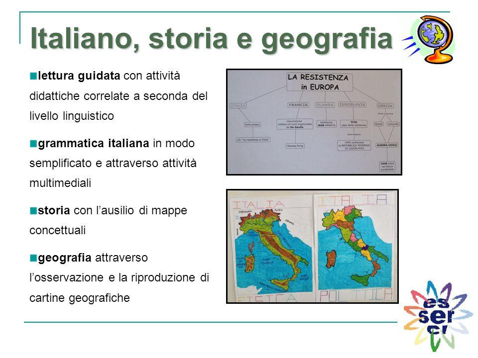 Italiano, storia e geografia Italiano, storia e geografia lettura guidata con attività didattiche correlate a seconda del livello linguistico grammati