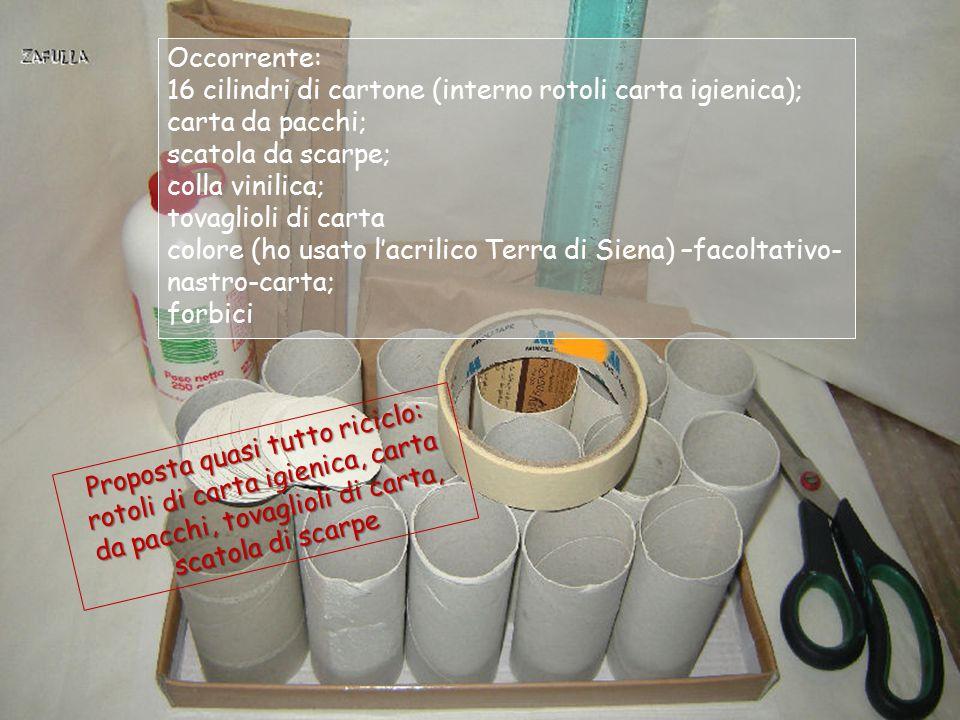 """Anche """"l'anima"""" dei rotoli della carta igienica, che di solito buttiamo, può essere utilmente riciclata per farne un contenitore-multiplo come questo:"""