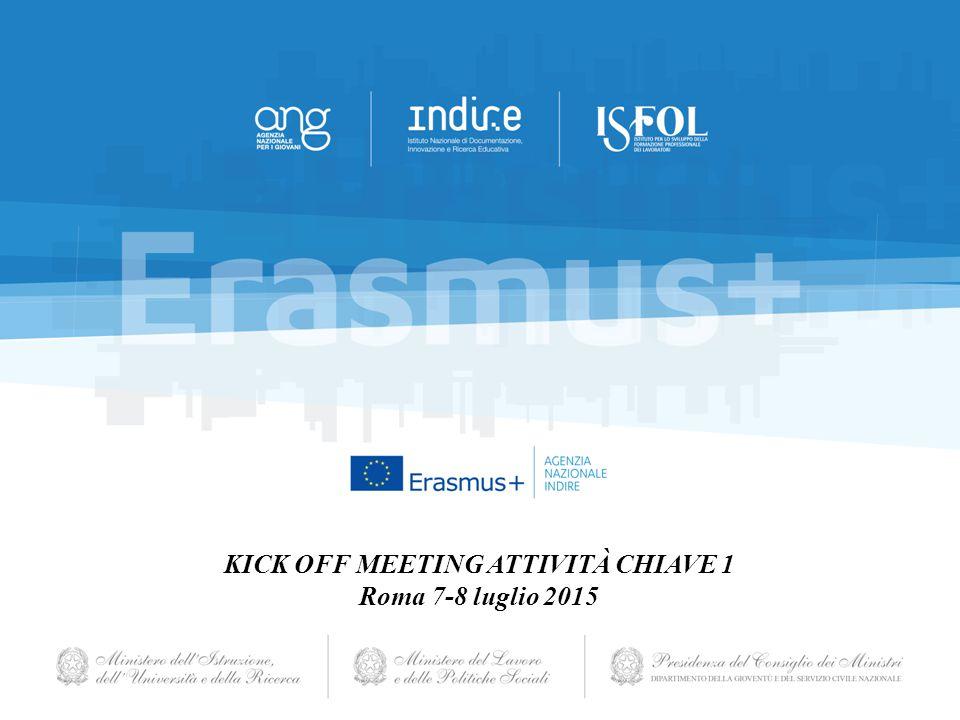 KICK OFF MEETING ATTIVITÀ CHIAVE 1 Roma 7-8 luglio 2015