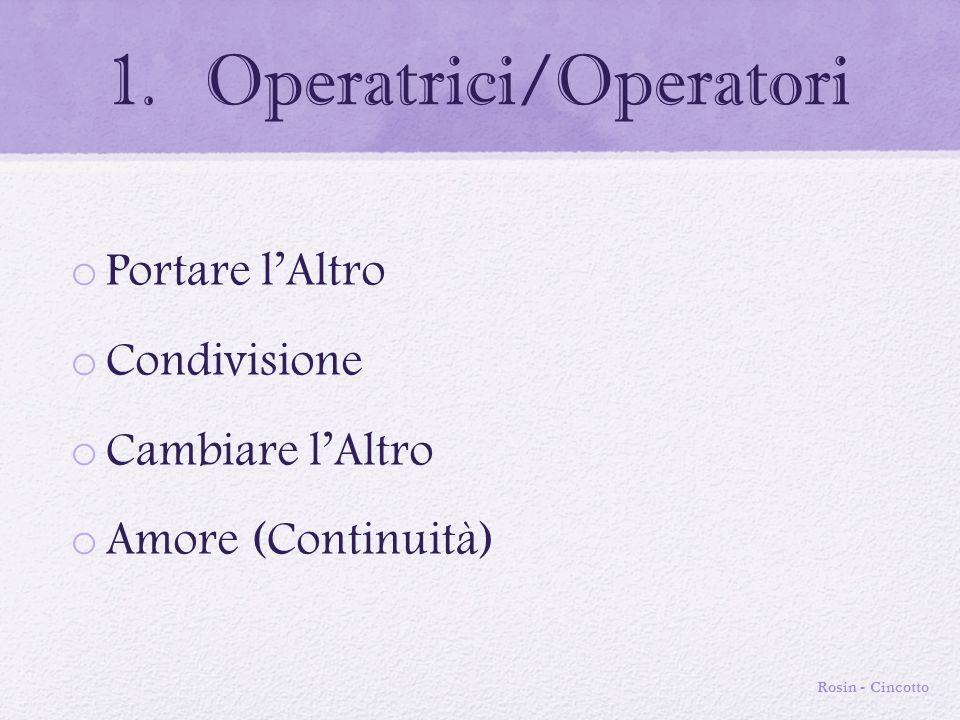 2. Utenza o Protezione o Essere Visti o Forza o Condivisione o Progettualità Rosin - Cincotto