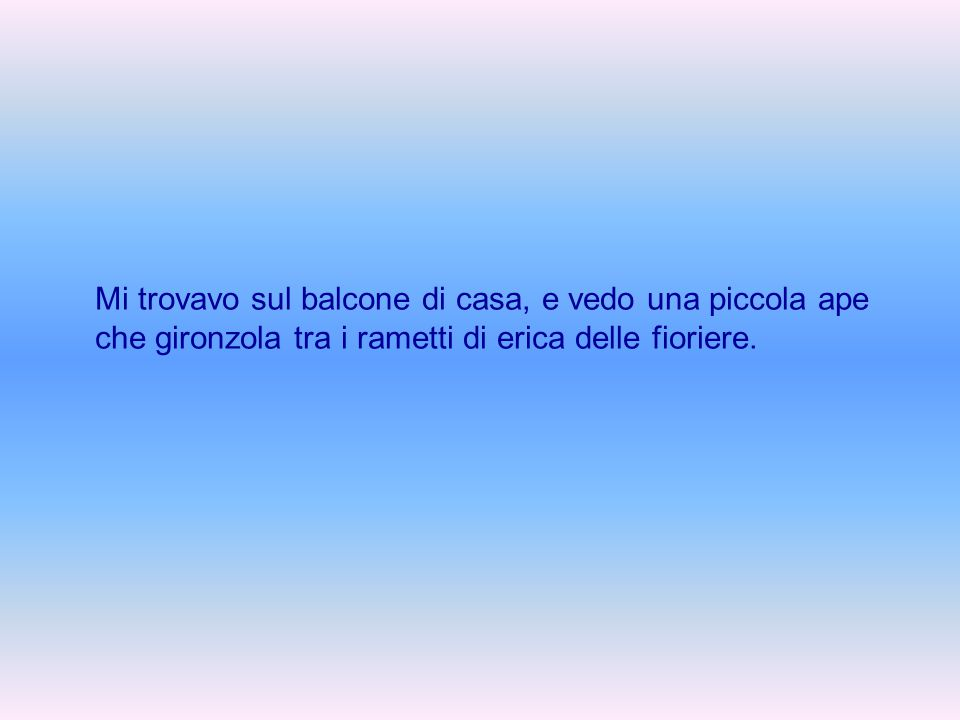 Angelo, l'Angelo e la farfalla By Angelo – amor43@alice.it Piccola storia con morale finale
