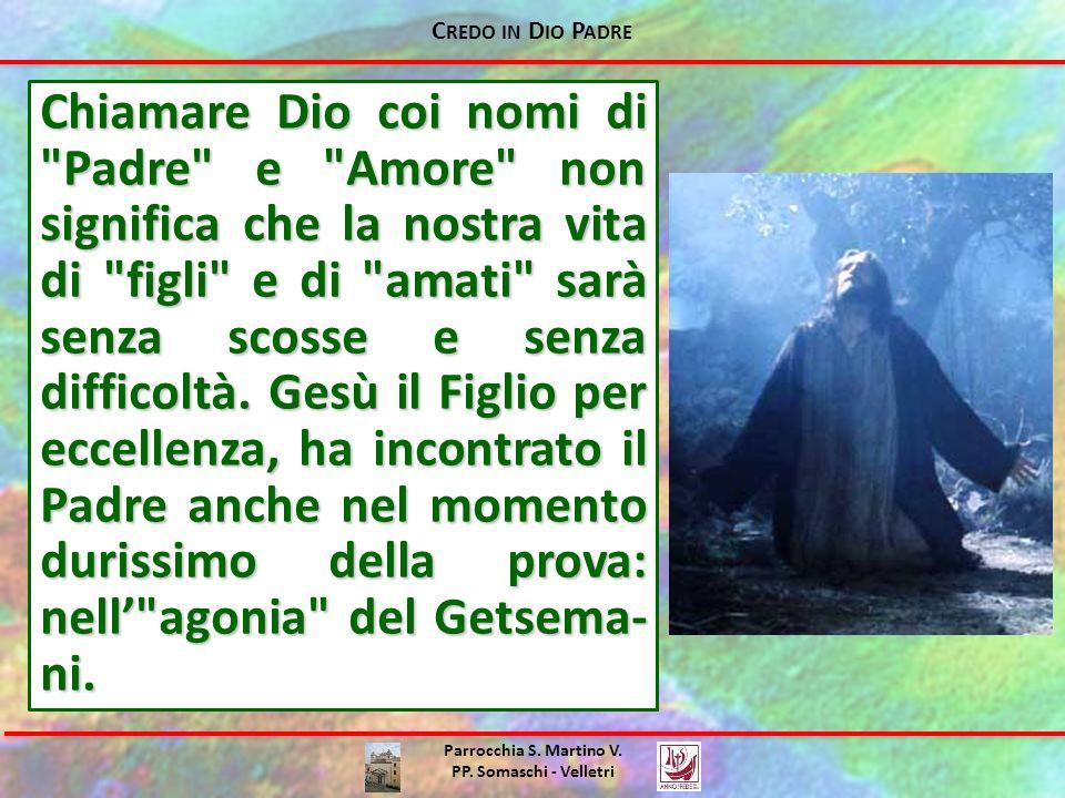 C REDO IN D IO P ADRE Parrocchia S. Martino V. PP. Somaschi - Velletri Chiamare Dio coi nomi di